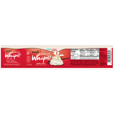 Yoplait® Greek Whips!® Vanilla Cream Lowfat Yogurt Mousse 4 oz. Cup