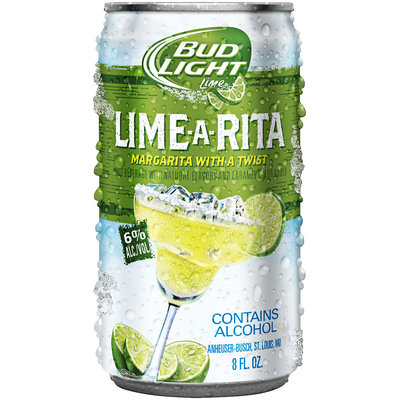 BUD LIGHT LIME 6% & 8% Alcohol Lime-A-Rita 8 OZ CAN