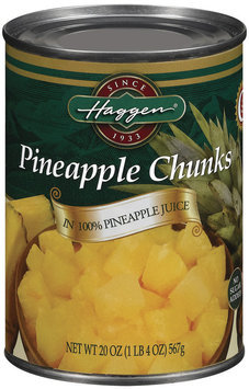 Haggen Chunks In 100% Pineapple Juice No Sugar Added Pineapple 20 Oz Can