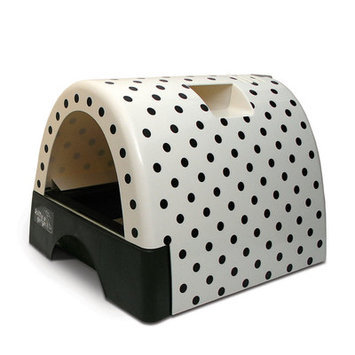 Kittyagogo Designer Cat Litter Box with Polka Dot Cover