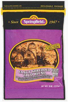 Springfield Fancy Shredded Taco Blend Cheese 8 Oz Peg
