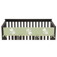 Sweet Jojo Designs Dragonfly Dreams Long Crib Rail Guard Cover Color: Green