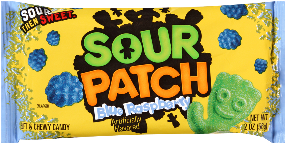 Sour Patch Blue Raspberry Candy