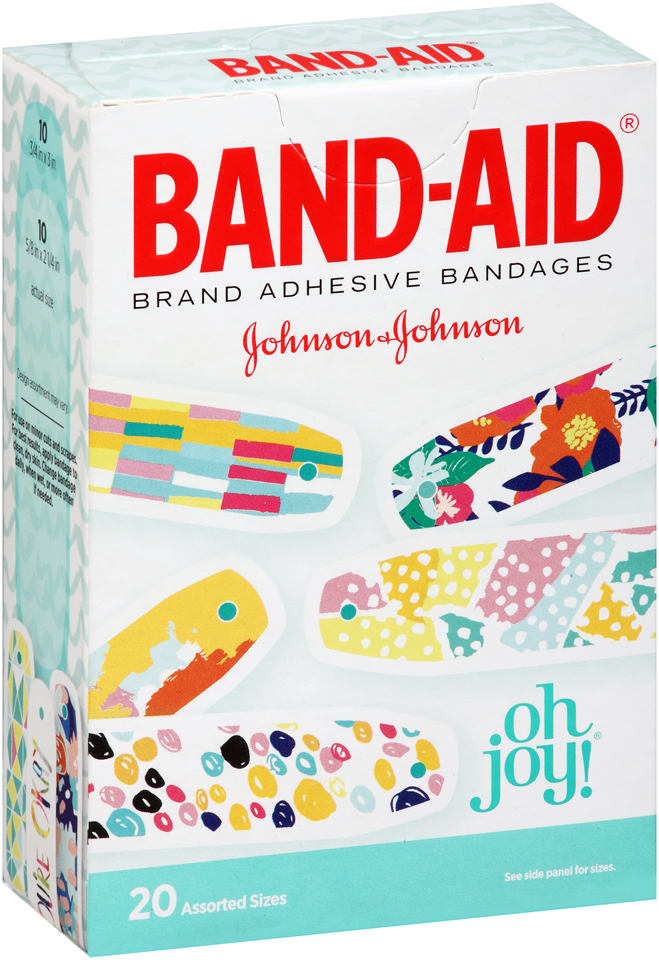 Band-Aid® Oh Joy!® Adhesive Bandages 20 ct Box