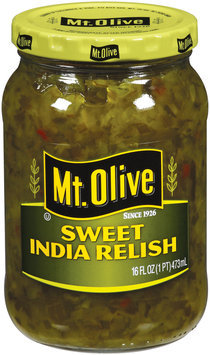 Mt. Olive Sweet India Relish 16 Oz Jar