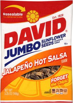 David® Jumbo Jalapeno Hot Salsa Flavor Sunflower Seeds 5.25 oz. Bag