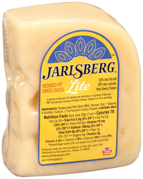 Jarlsberg® Lite Reduced Fat Swiss Cheese Pre-Cut 10 oz. Chunk, Random Weight