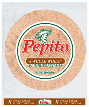 Pepito Whole Wheat Tortillas 8 Ct Bag