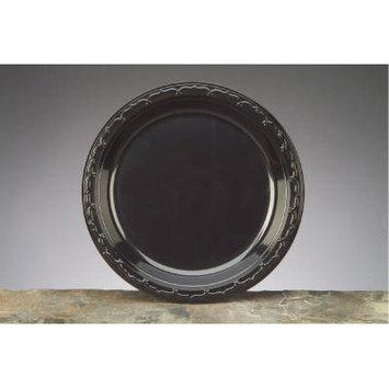 Genpak GNP BLK10 10.2 5 in. Silhouette Plastic Plate 4-100-Black