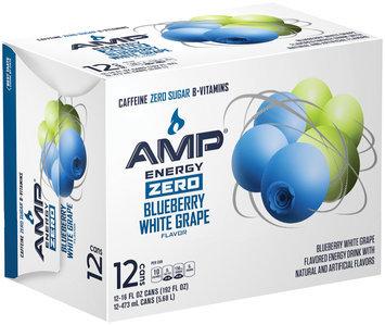 Amp® Energy Zero Blueberry White Grape Energy Drink 12-16 fl. oz.  Cans