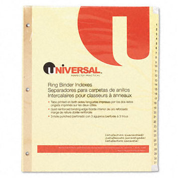 Universal Office Products Index Tabs and Dividers Universal 1-31