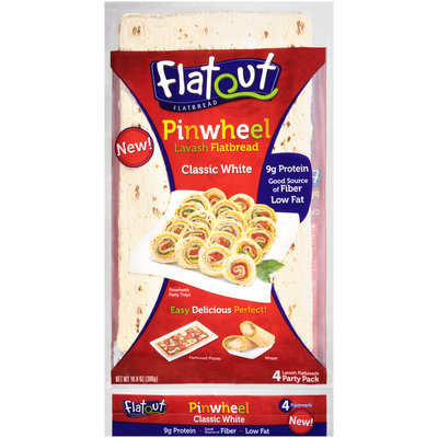Flatout® Classic White Pinwheel Lavash Flatbread 10.8 oz. Pack