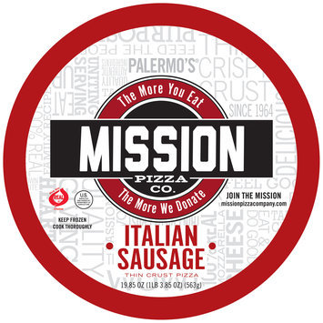 Mission Pizza Co. Thin Crust Italian Sausage Pizza 19.85 oz. Pack
