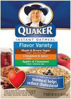 Quaker Oatmeal Flavor Variety 10 Pk Instant Oatmeal   Box
