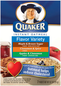 Quaker Oatmeal Flavor Variety 10 Pk Instant Oatmeal   Box
