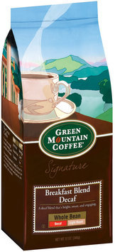 Green Mountain Coffee Roasters Whole Bean Breakfast Blend Decaf Light Roast Signature Coffee