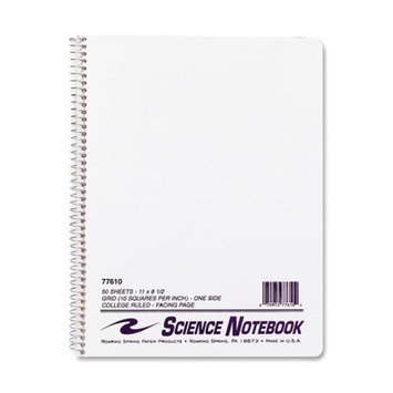Roaring Spring Paper Science Notebook, Wirebound, 11