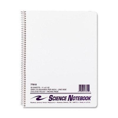 Roaring Spring Paper Science Notebook, Wirebound, 11