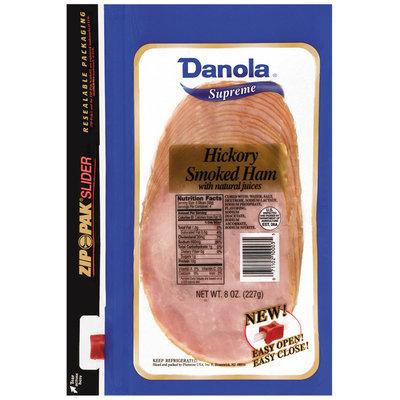 Danola Supreme  Sliced Ham Hickory Smoked 8 Oz Zip Pak