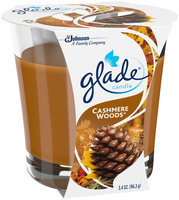 Glade® Cashmere Woods Candle 3.4 oz Jar