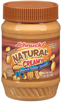 Schnucks Natural Creamy Peanut Butter Spread 18 Oz Plastic Jar