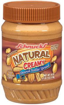 Schnucks Natural Creamy Peanut Butter Spread 18 Oz Plastic Jar