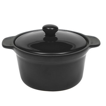 Maxwell & Williams Microstoven 10.5-oz Round Mini Casserole Color: Black