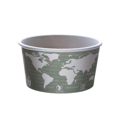 Eco-Products, Inc. Paper Bowls Eco-Products World Art PLA-Lined Soup