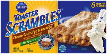 Pillsbury Toaster Scrambles® Cheese Sauce, Egg & Sausage Toaster Pastries 6 ct. Box