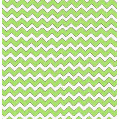 Stwd Chevron Zigzag Crib Sheet Color: Lime