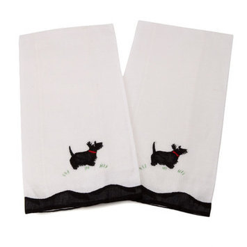 Gerbrend Creations Inc. Scotty Dog Guest Linen Towel (Set of 2)