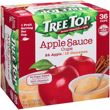 Tree Top® No Sugar Added Apple/Cinnamon Apple Sauce Variety Pack 36-4 oz. Cups