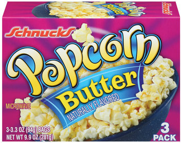 Schnucks Microwave Butter Popcorn 3 Pk Box