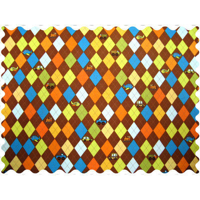 Stwd Argyle Transport Fabric by the Yard Color: Brown