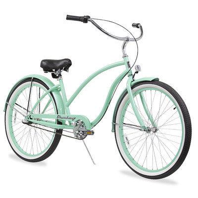 Beachbikes Women's Chief Beach Cruiser Bike Frame Color: Mint Green