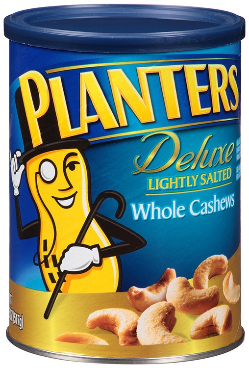 Planters Deluxe Lightly Salted Whole Cashews 18.25 oz. Canister