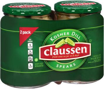 Claussen Kosher Dill Pickle Spears 2-24 fl. oz. Jars