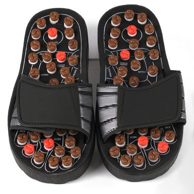 Living Healthy Products Living Health Products RS-700-b2-M Reflexology Sandals - Rotating massage heads - Medium for 394041