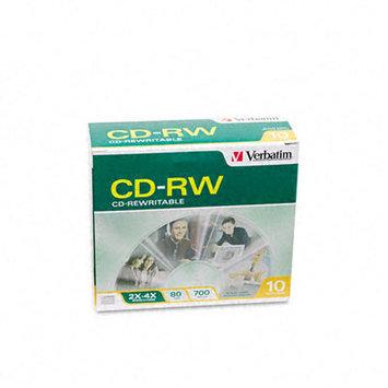 Verbatim 4x CD-RW Media - 700MB - 10 Pack