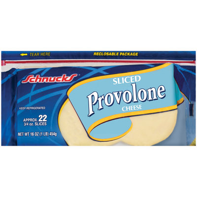 Schnucks Provolone Sliced Cheese 16 Oz Package