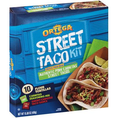 Ortega® Authentic Pork Carnitas Street Taco Kit 15.88 oz Box