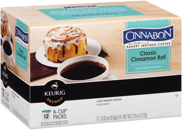 Cinnabon® Classic Cinnamon Roll Light Roast Coffee K-Cup Packs 12 ct Box