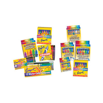 Sargent Art SAR350591 Flatsiders No-Roll Crayons 8 Count