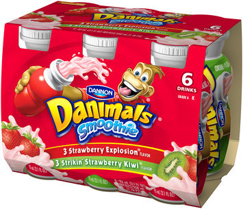 Danimals Smoothie Strawberry Explosion/Strikin Strawberry Kiwi Pack
