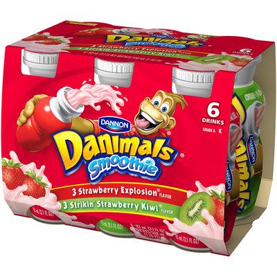 Danimals Smoothie Strawberry Explosion/Strikin Strawberry Kiwi Pack