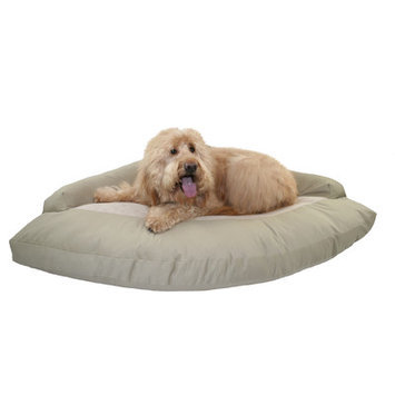 Hidden Valley Products Corner Bolster Dog Bed Color: Brown Plaid/Oatmeal Berber