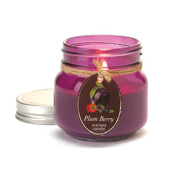 Plum Berry Mason Jar Candle By Orchard Village