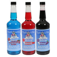 Great Northern Popcorn 3 Piece Premium Polar Snow Cone and Shaved Ice Syrup Flavor Set