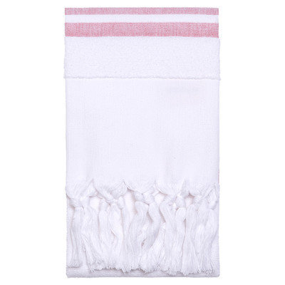Nine Space Soft Terry Hand Towel, 35x19.5, Red, 1 ea