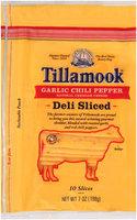 Tillamook® Natural Garlic Chili Pepper Cheddar Cheese Deli Slices 7 oz. Bag